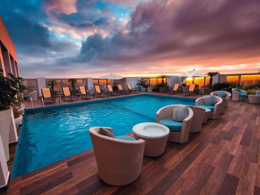 The swimming pool at or near Mövenpick Hotel Casablanca