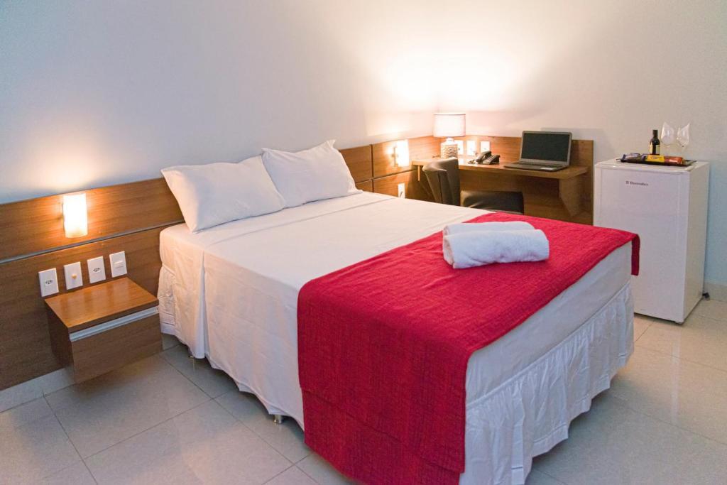 Cama o camas de una habitación en Amazônia Tower Hotel
