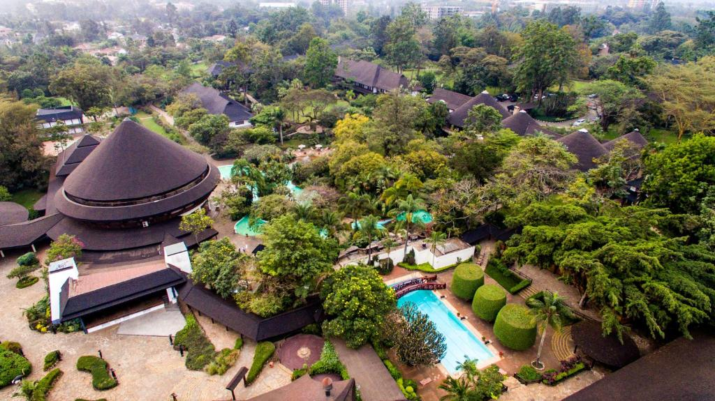A bird's-eye view of Safari Park Hotel