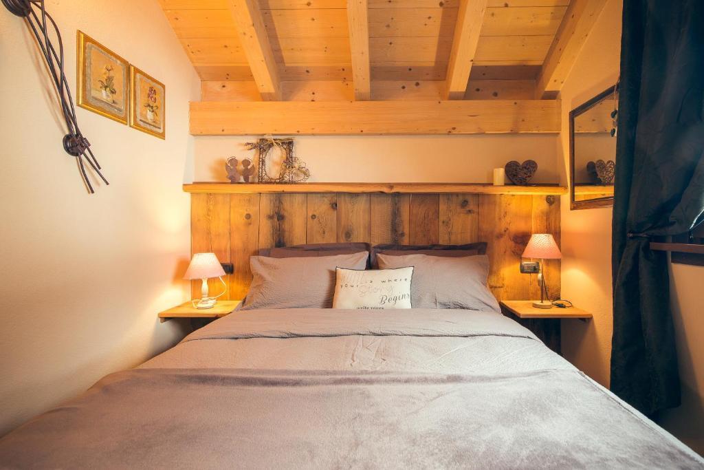 Letto o letti in una camera di Chalet Da Florin
