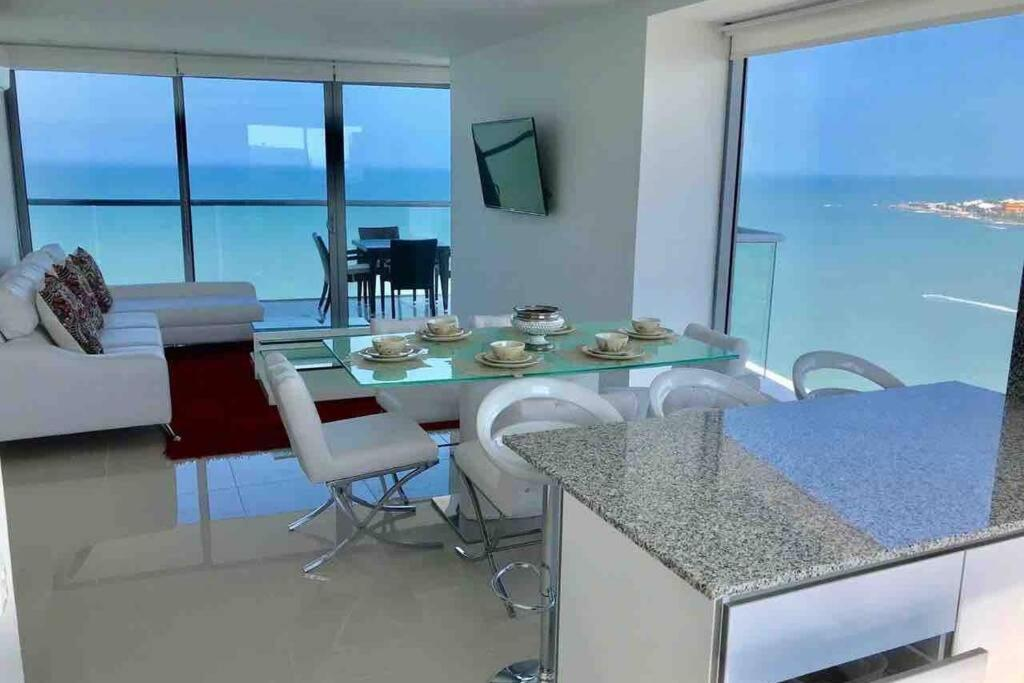22fl panoramic STUNNING seaview LOFT 8ppl @Bocagrande