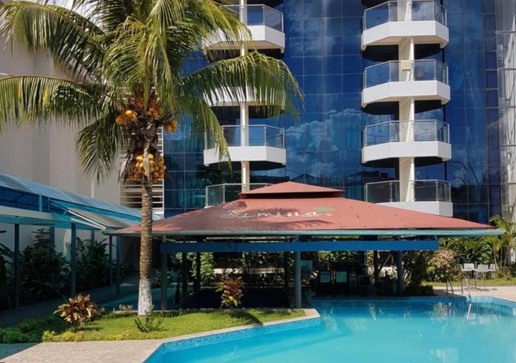 The swimming pool at or close to Samiria Jungle Hotel