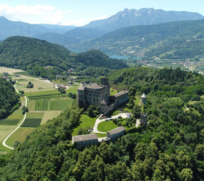 A bird's-eye view of Castel Pergine