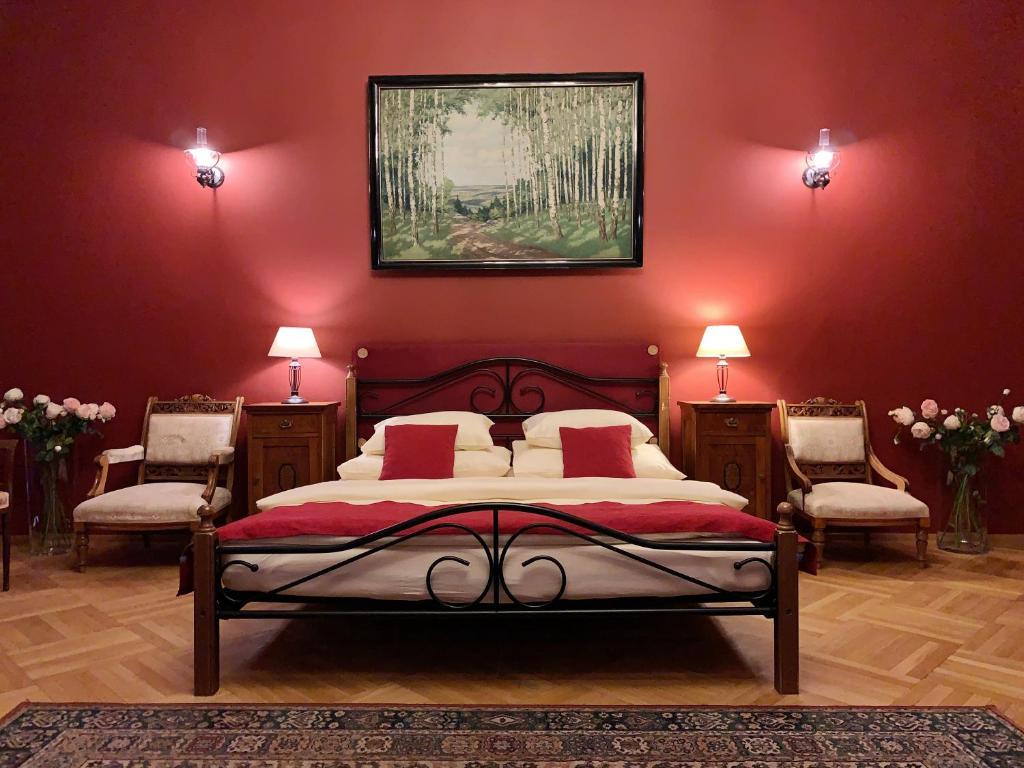 Кровать или кровати в номере Small Luxury Palace Residence