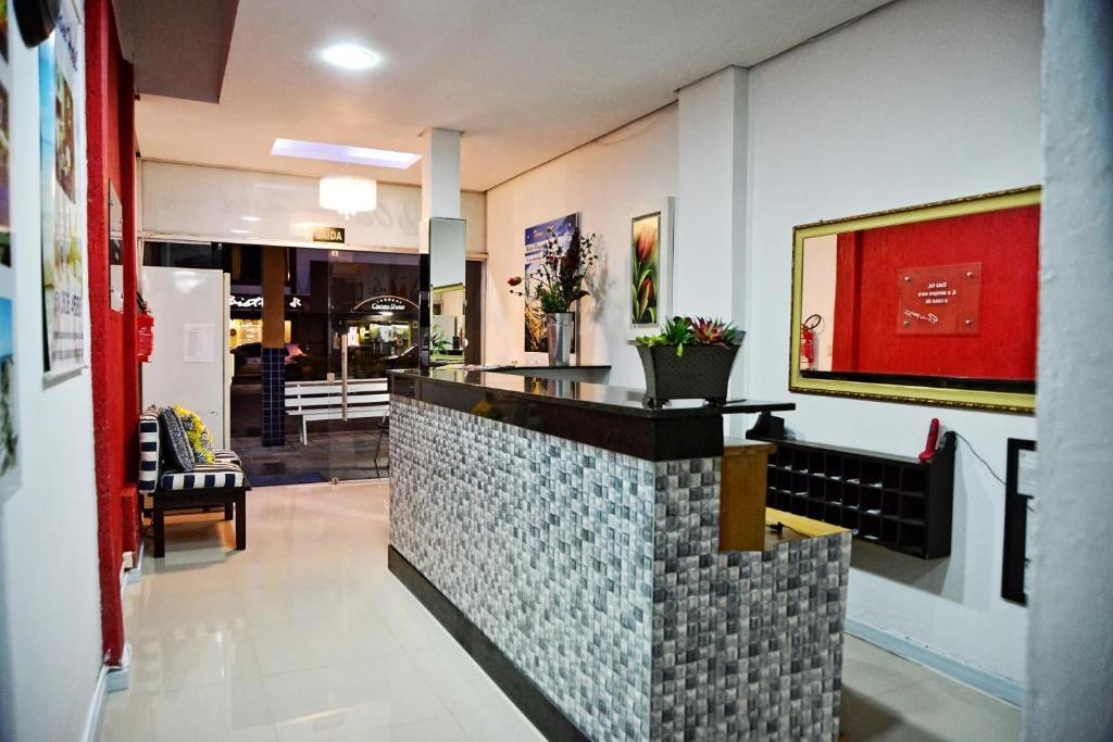 The lobby or reception area at HOTEL POUSADA OCEANO
