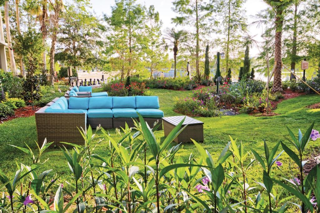 A garden outside Club Wyndham Cypress Palms