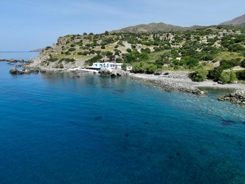 A bird's-eye view of Agia Fotia Taverna