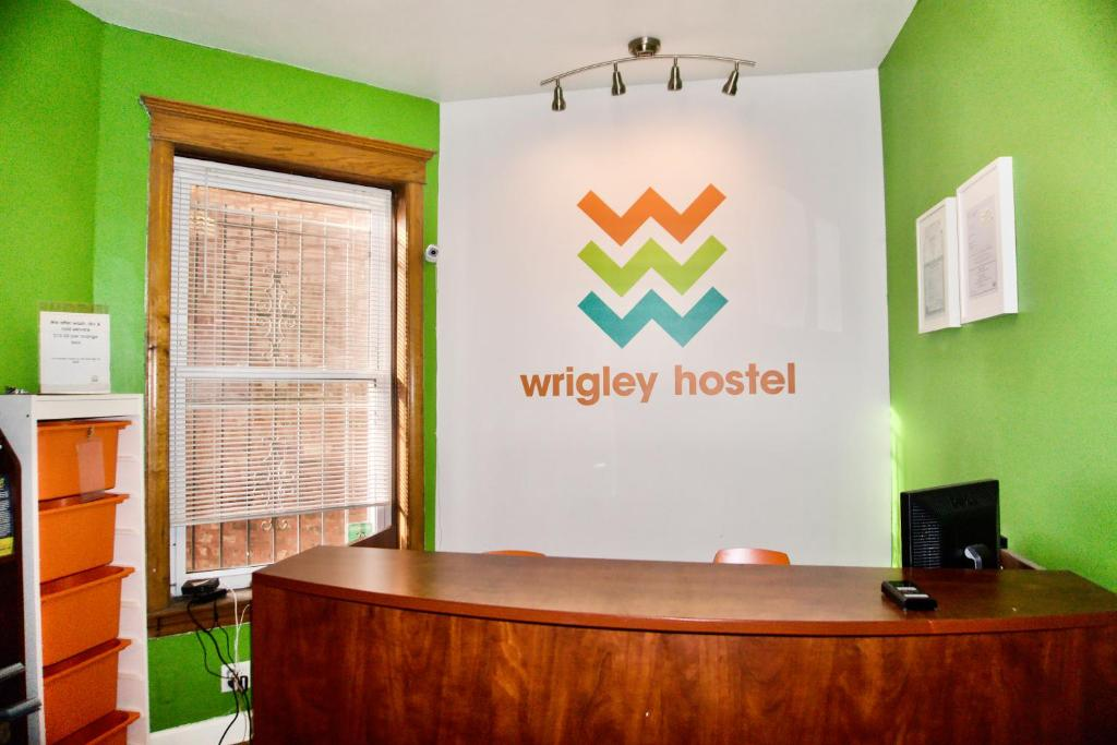 The lobby or reception area at Wrigley Hostel - Chicago