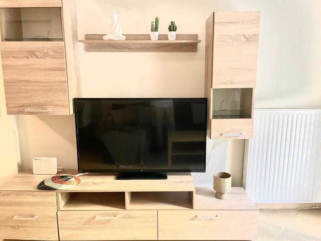 A television and/or entertainment center at Bocca house near Athens Airport