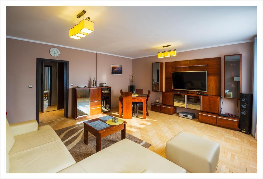 Część wypoczynkowa w obiekcie Apartament Jantarowa