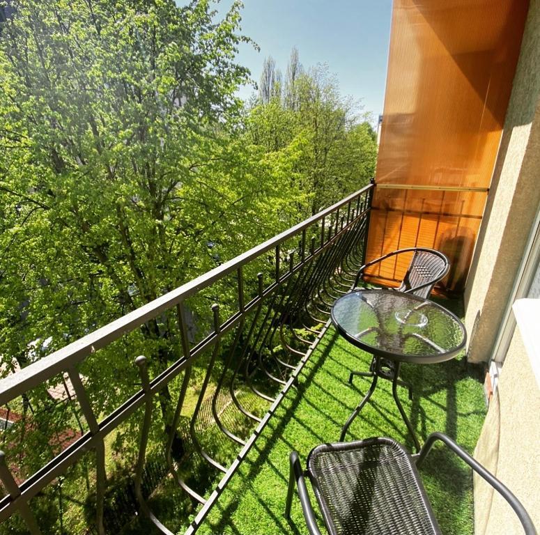 A balcony or terrace at Apartment u Kafedralnogo Sobora
