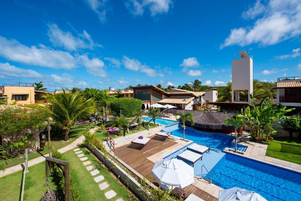 Uitzicht op het zwembad bij Pipa Beleza Spa Resort of in de buurt