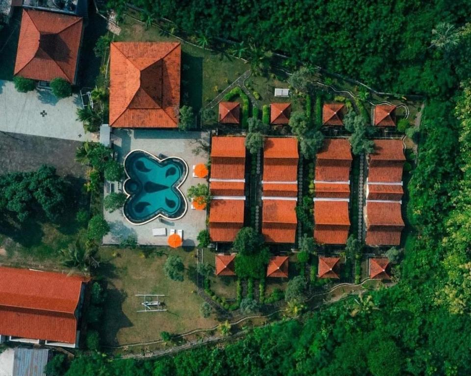 A bird's-eye view of Jukung Cottage