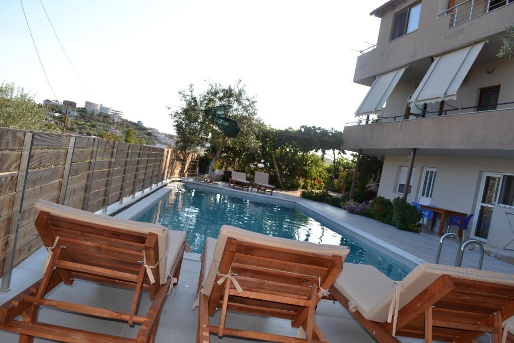 The swimming pool at or near Ksamil Apartments