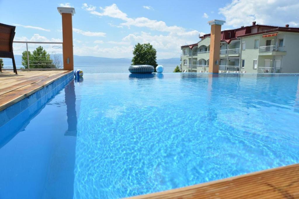 Het zwembad bij of vlak bij Villa Mina