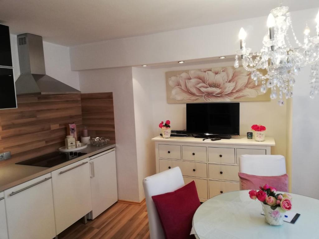 Küche/Küchenzeile in der Unterkunft Das Cottage