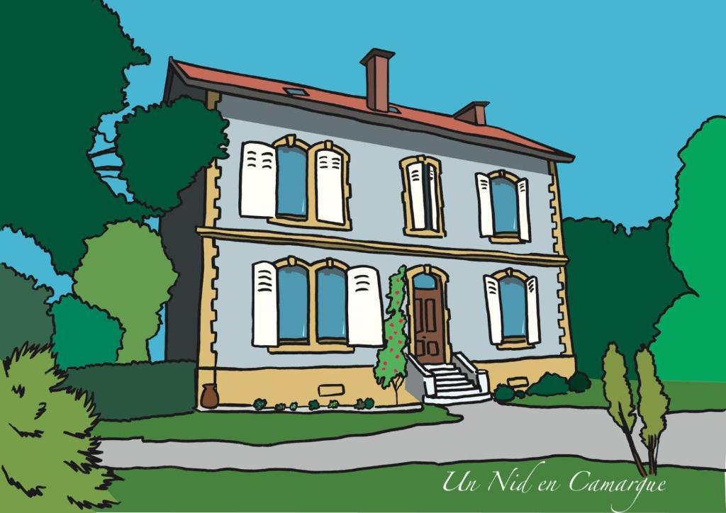 The floor plan of Un Nid en Camargue