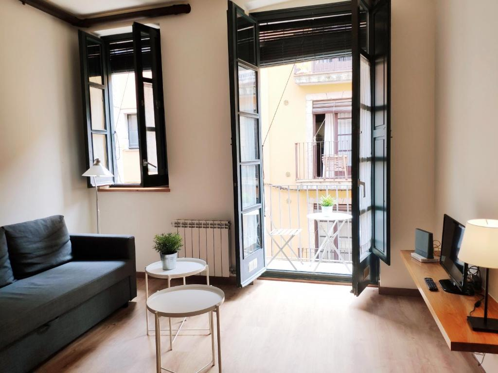 A seating area at Apartment Histórico