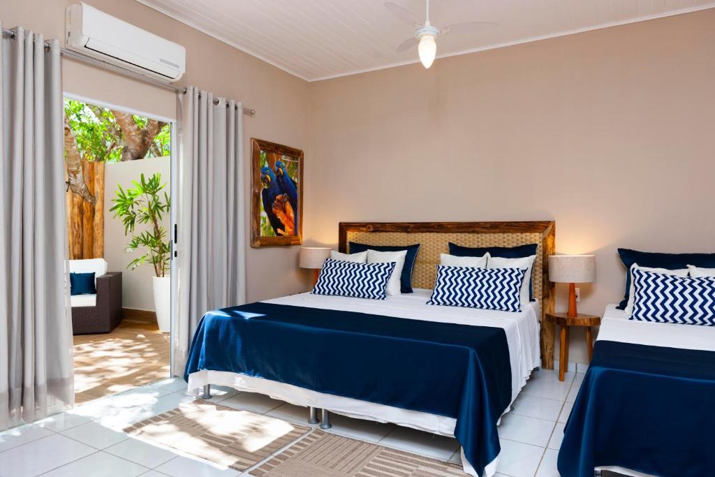 Cama ou camas em um quarto em Pousada Rio Claro