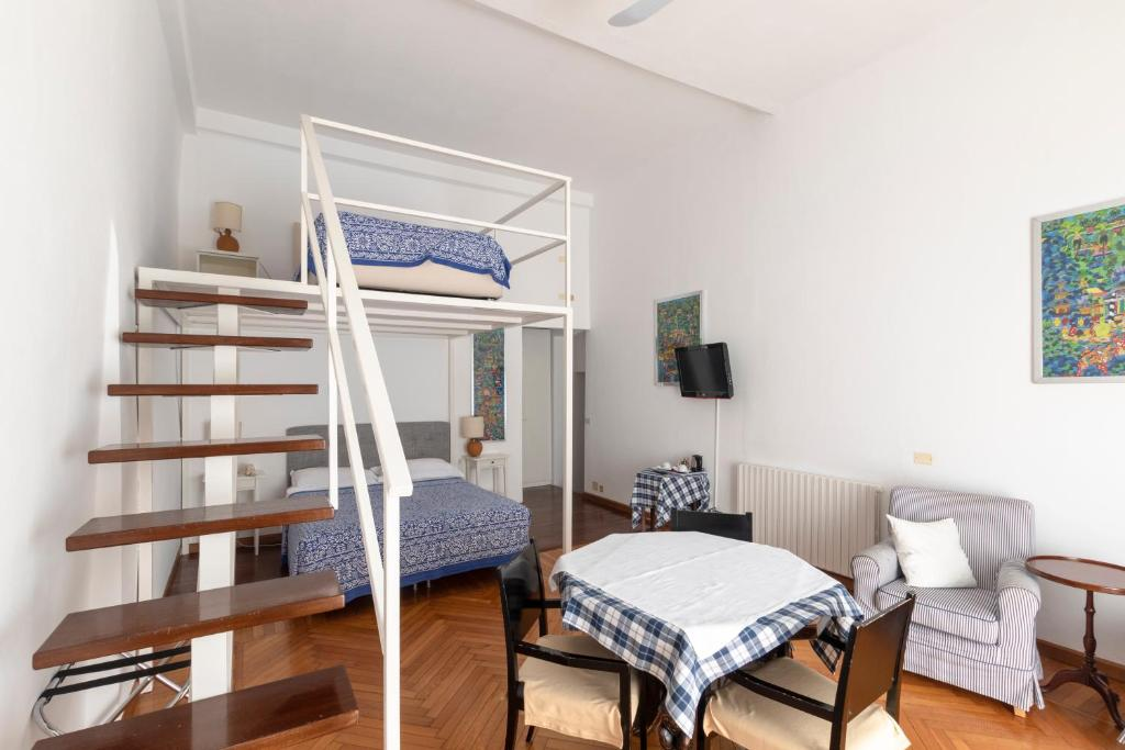 A bunk bed or bunk beds in a room at Albergo Nazionale