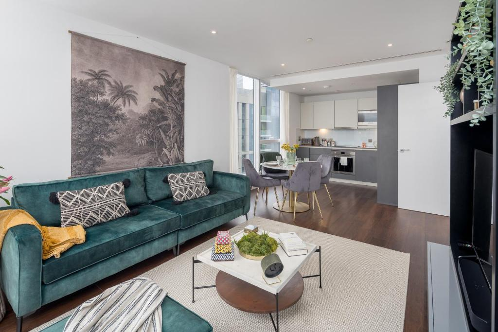 Luxurious Spacious 2Bed Flat in Canary Wharf w/views of River Thames