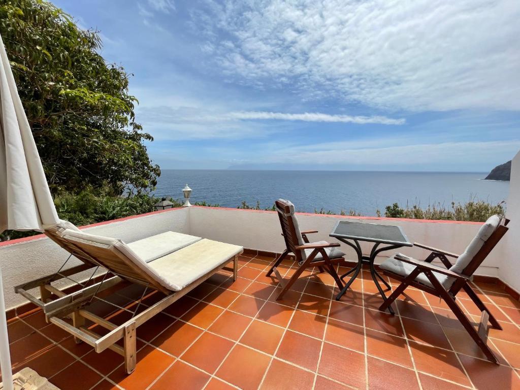 Een balkon of terras bij Villa Delfines