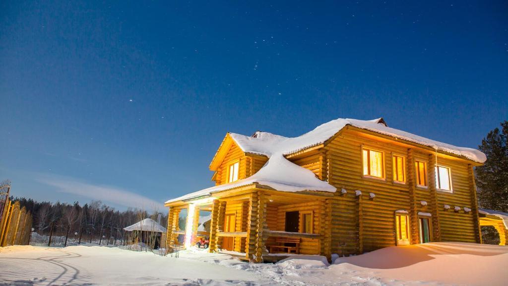 Земляничная поляна Боровое зимой