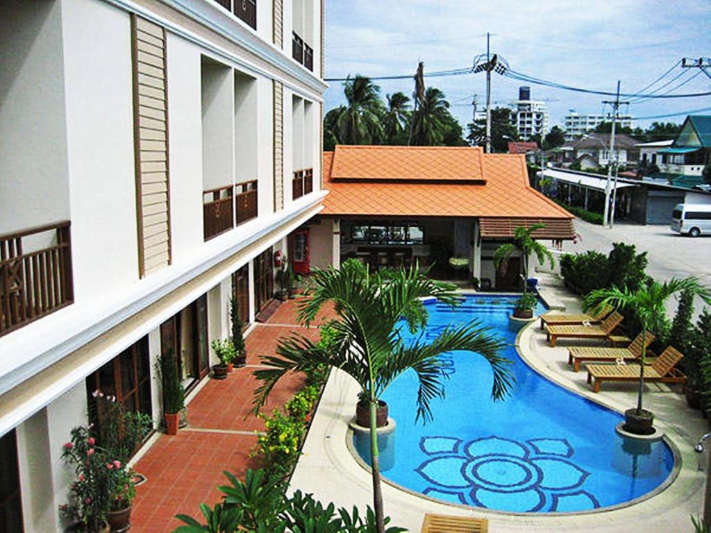 A view of the pool at Narawan Hotel, Hua Hin or nearby