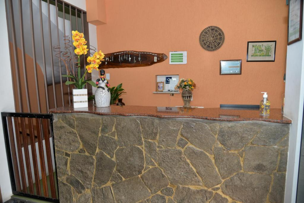 The lobby or reception area at Hotel Galeão