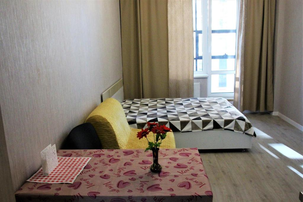 Кровать или кровати в номере САЛЮТ