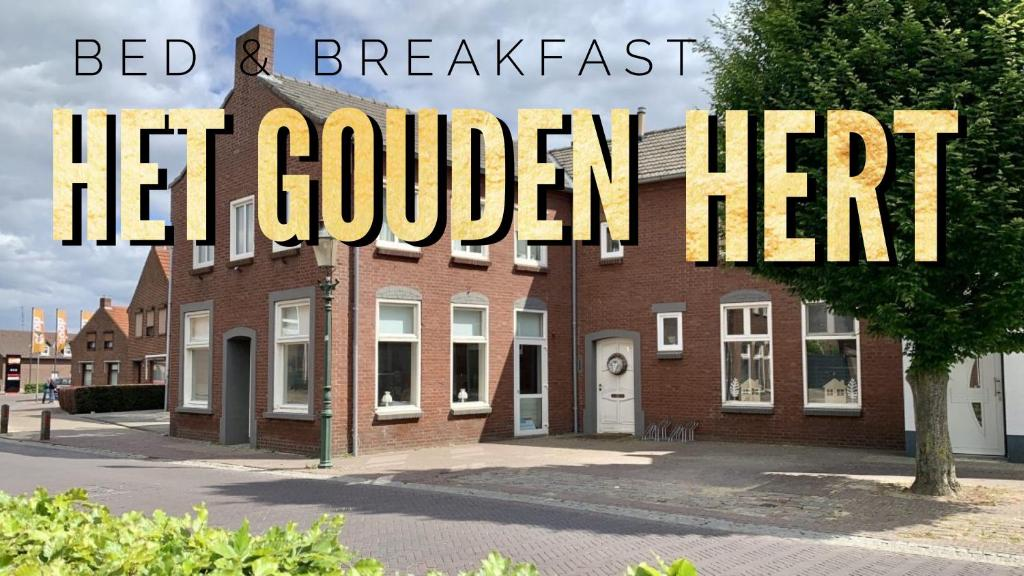Het logo of bord voor de bed & breakfast
