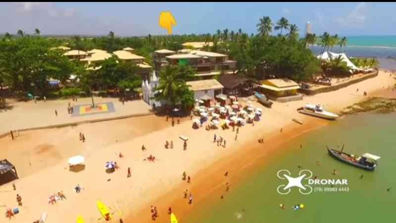A bird's-eye view of Praia do Forte Kauai Bahia