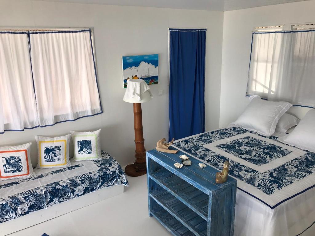 Cama ou camas em um quarto em Chez christiane