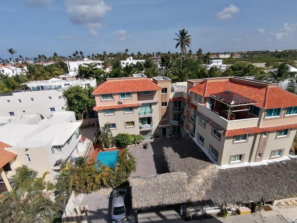 Blick auf Las Rosas de Punta Cana aus der Vogelperspektive