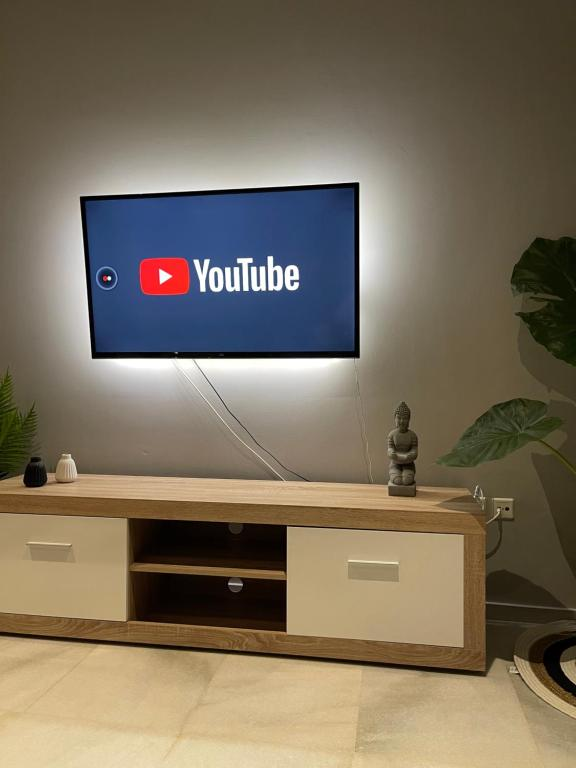 A television and/or entertainment centre at Aggelikis House