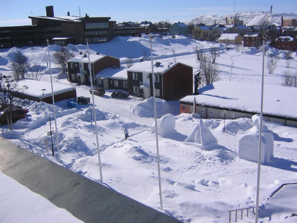 STF Malmfältens Folkhögskola durante l'inverno