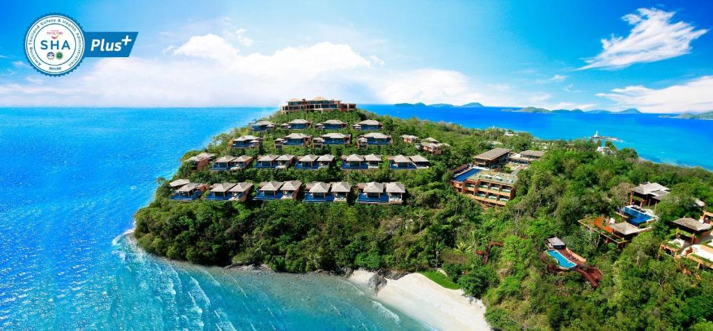 A bird's-eye view of Sri Panwa Phuket Luxury Pool Villa Hotel - SHA Plus