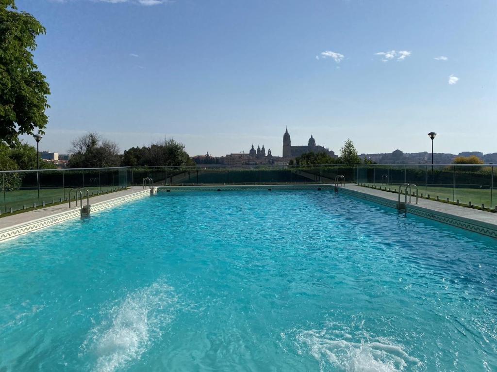 The swimming pool at or near Parador de Salamanca