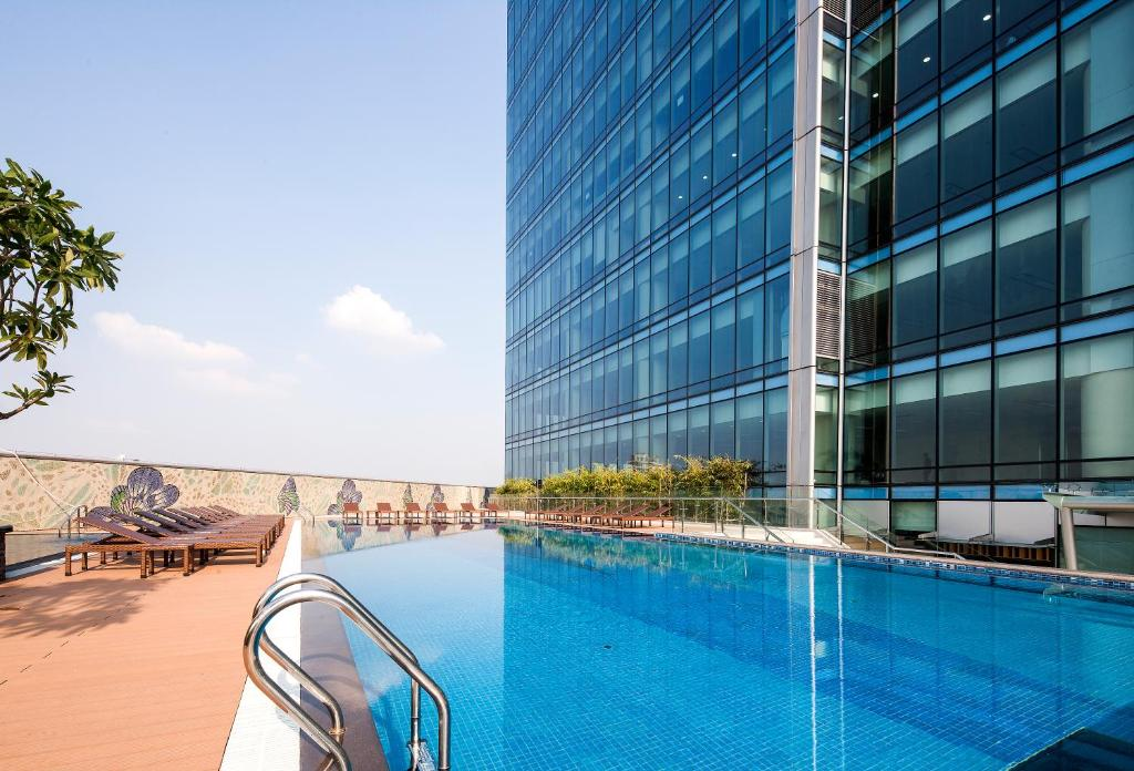 The swimming pool at or near Lotte Hotel Hanoi
