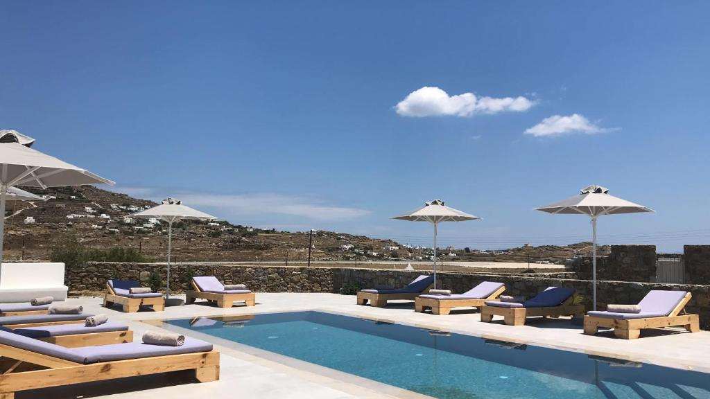The swimming pool at or near Sol Mykonos Studios
