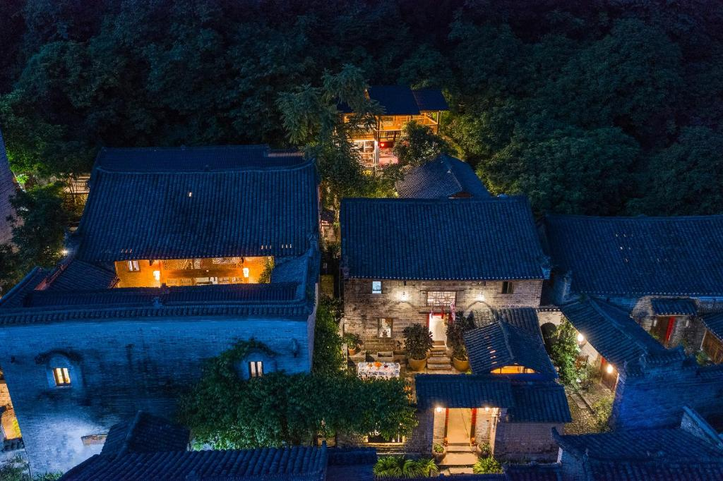 A bird's-eye view of Yangshuo Secret Garden