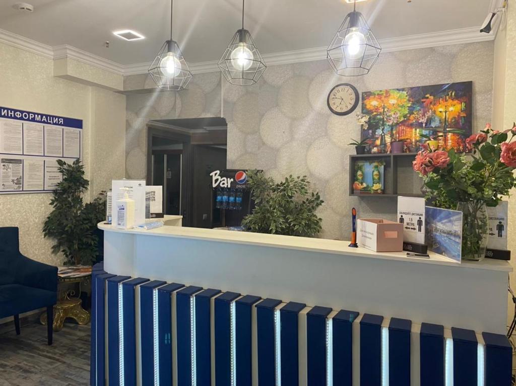 The lobby or reception area at Expo Hotel Myakinino