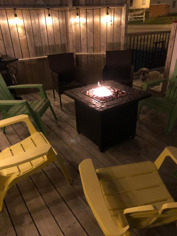 A seating area at Alma's Cape Shore Cottage! Your home away from home!