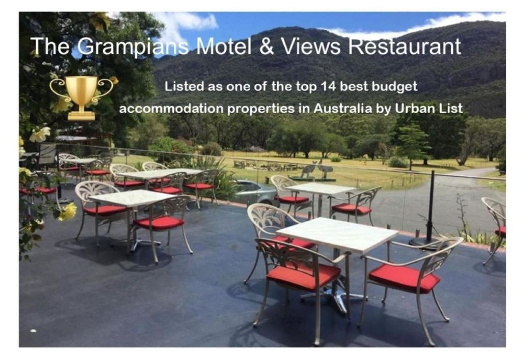 A restaurant or other place to eat at The Grampians Motel and The Views Bar & Restaurant