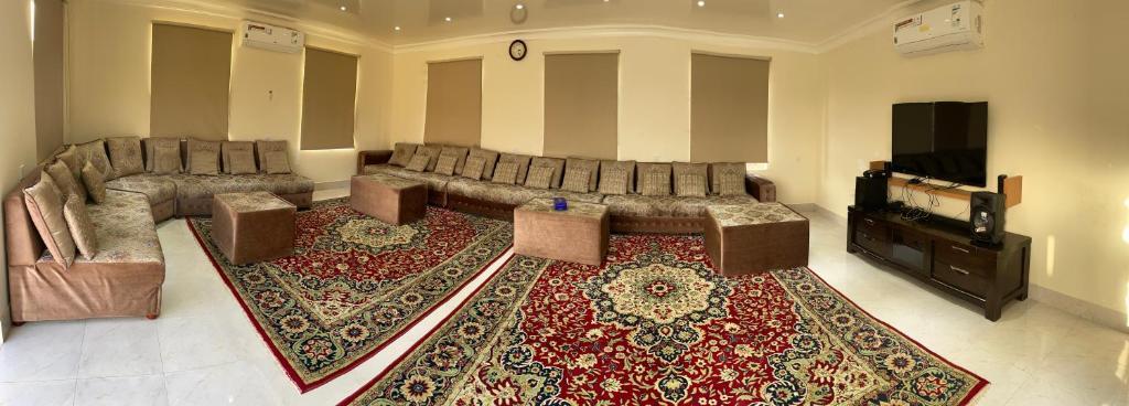 A seating area at Alshahad Farm