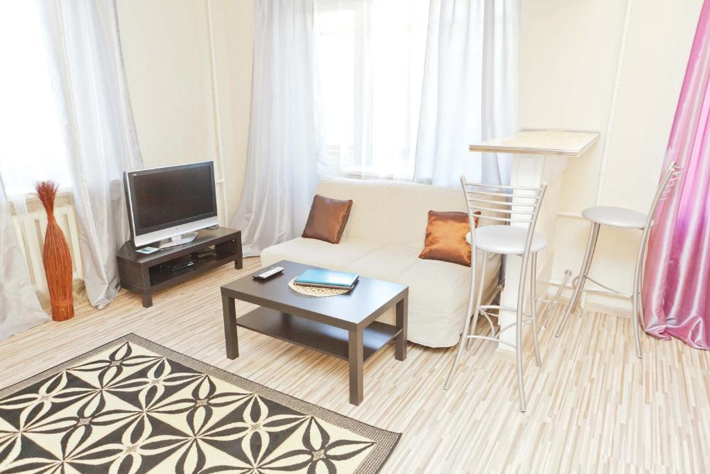 Гостиная зона в Leader NORD Apartments on Krasnaya Presnya
