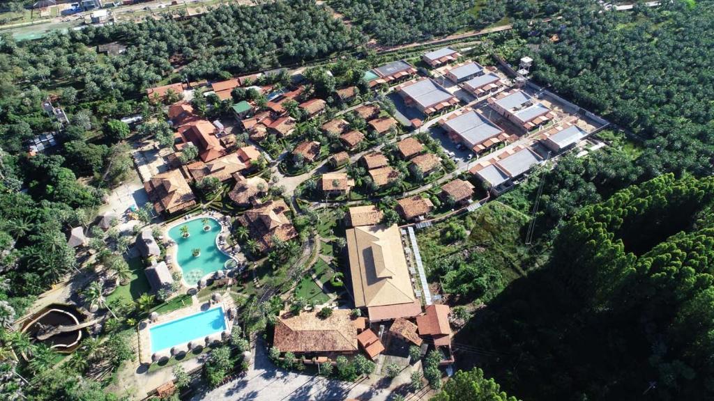 A bird's-eye view of Porto Preguiças Resort