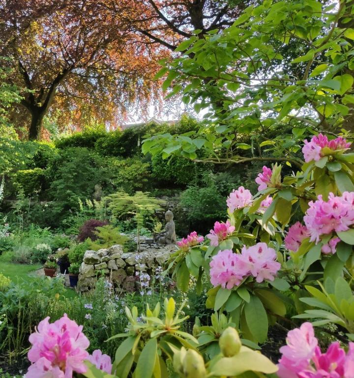 Cascades Gardens in Matlock, Derbyshire, England