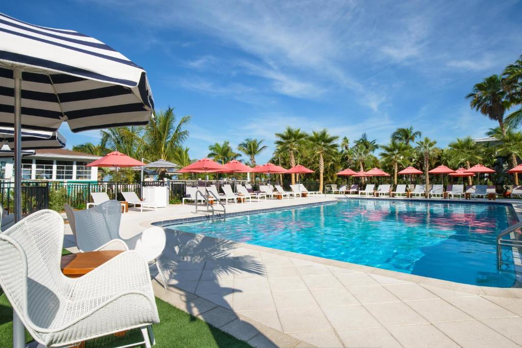 The swimming pool at or near Hilton Garden Inn St. Pete Beach, FL