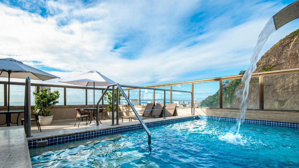 The swimming pool at or near Hotel Atlântico Rio